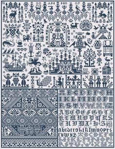 Bois le Duc           Price: £17.00   Area in stitches: 338 x 397       This design is made up of many traditional sampler motifs from Holl...