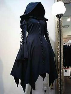 Hooded cloak dress - for goths and other romantics. I would LOVE to wear it for sure! More