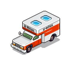 eboy zoomed u-haul pixel truck from 8bitdecals