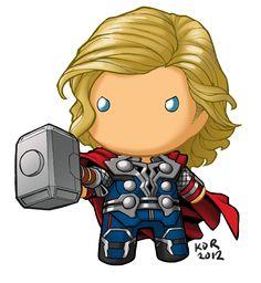 chibidoll Thor by KevinRaganit.deviantart.com on @deviantART