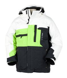 """This Obermeyer junior boys ski jacket comes from the """"360"""" collection where Alpine and Freeride merge. Cool, modern color blocking dominate this style. $99.95 You Save 41% Click on this link for more technical information: http://www.kidskiandrain.com/obermeyer-red-junior-boy-jacket.html"""