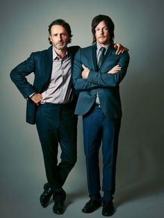 Andrew Lincoln and Norman Reedus (from Atlanta Magazine's cover photo shoot)