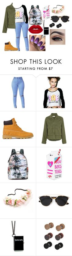 """iuhygtfdr"" by annie-hall-barton ❤ liked on Polyvore featuring Timberland, The Great, Valentino, Valfré, Christian Dior and Lime Crime"