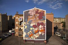 Francisco Diaz aka Pastel is the latest artist to paint on the streets of Girona in Spain for the Milestone Street Art Project.