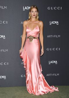 WHO: Rosie Huntington-Whiteley  WHAT: Gucci  WHERE: At the 2016 LACMA Art + Film Gala, Los Angeles  WHEN: October 29, 2016