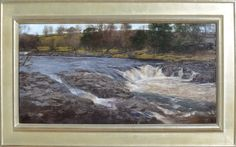 Douglas Fryer, River Tees Near High Force oil