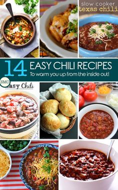 These quick and easy chili recipes look delicious! Click on the picture to see all of the recipes.