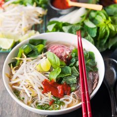 Make this Beef Pho from start to finish in the pressure cooker.