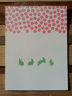 This is a perfect little post card for a spring greeting.  $4.00 on etsy
