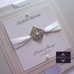 Wedding Guest Book --- scarlet