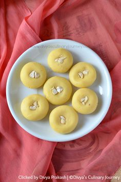 Kesar Peda - Saffron flavored milk fudge made with milk powder and heavy cream. Easy to make Indian sweet.