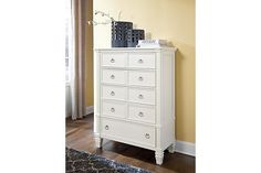 White Prentice Chest of Drawers View 1