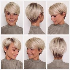 How to style the Pixie cut? Despite what we think of short cuts , it is possible to play with his hair and to style his Pixie cut as he pleases. Pixie Bob Haircut, Angled Bob Haircuts, Short Pixie Haircuts, Hairstyles Haircuts, Short Hair Cuts, Short Hair Styles, Fancy Hairstyles, Pixie Cuts, Bob Short