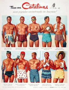 Men's Swimwear Guide... Oh yes! LOL Love the hiked up look ;) haha
