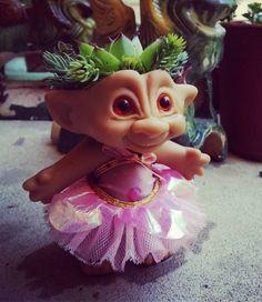 Troll Planter I made, she is cute!