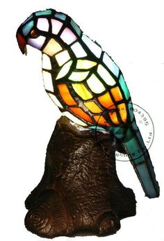 Parrot Tiffany Style Lamp