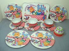 Vintage OHIO ART Tin HUMPTY DUMPTY Tea SET 12Pcs Really Cute and Colorful | eBay