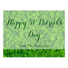 Shamrocks Clover Leaves St. Patrick's Day Custom Postcard
