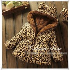 Cheap hood shoes, Buy Quality jacket work directly from China hooded quilted jacket Suppliers:   winter children outerwear new leopard coat baby girls boys thicker section padd