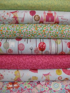 Once Upon a Time by Alexander Henry is a super sweet fabric collection - what little one wouldn't love a dreamy fairy tale quilt with these fabrics in it?