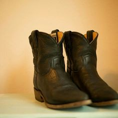 Frye Boots Short Frye cowboy boots- small flaw on right back boot (pictured above) Frye Shoes Ankle Boots & Booties