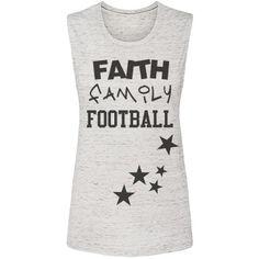 FAITH FAMILY FOOTBALL TANK WITH STARS | FAITH FAMILY FOOTBALL WITH STARS Customized Girl, Graphic Tank, Faith, Football, Stars, Women, Soccer, Futbol, Sterne
