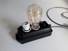 Groepenkast HAF gietijzer omgebouwd tot een led lamp Led Lamp, Om