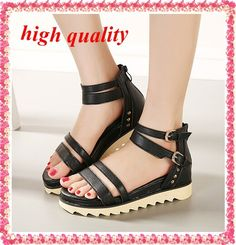 Find More Flats Information about fashion cut outs 2014 ladies Ankle Strap Sandals for women roman summer black platform shoes woman flat sandals Z824 ,High Quality sandal,China sandals antique Suppliers, Cheap sandals 3 from Yumeiren's shoes LTD on Aliexpress.com