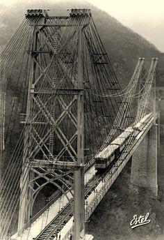 SAUTO (P.O.) - Le pont Gisclard Villefranche, Cable Stayed Bridge, George Washington Bridge, Madame, Brooklyn Bridge, Travel, Bridges, Antique Post Cards, Bridge