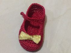 Red and gold girl shoes