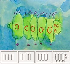 Art Projects for Kids: Caterpillar Drawing--good project for beginning of school year with 1st graders