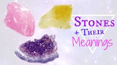 Crystals and Their Meanings │ Benefits + Healing │ Citrine, Amethyst, Rose Quartz Chakra Healing Stones, My Birthstone, Crystal Meanings, Stones And Crystals, True Colors, Rose Quartz, Birthstones, Benefit, Meant To Be