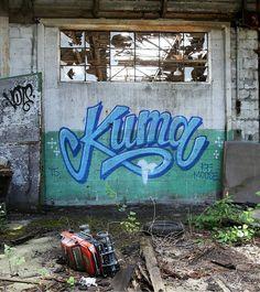 KUMA @kumawashere _______________________ #madstylers #bombing #ilovebombing #graff #graffiti #sprayart #graffitiart #kuma