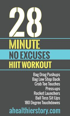 Complete 7 exercises 4 times through in this intense, fun at-home workout. #hiit #fitness