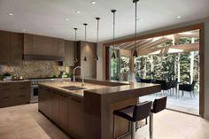 Whistler Real Estate - Kadenwood Estate Homes Luxury Kitchen Design, Kitchen Room Design, Shop Interior Design, Luxury Kitchens, Interior Design Living Room, Cool Kitchens, Kitchen Decor, Huge Kitchen, Kitchen Furniture