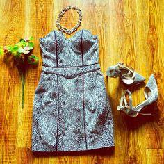 Strapless Snake Print Tulip Dress Beautiful Snake print dress. Guess Dresses