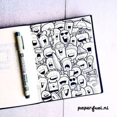 Hi from the 'happies' at the beach! #illustration #doodle #happies #paperfuel