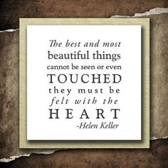 Saying: Helen Keller Quote; 1  Unmounted Rubber Stamp