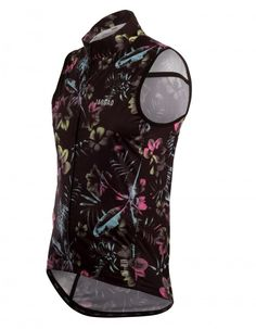 Men's Black Floral Cycle Vest - Jaggad