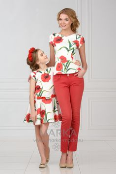 """""""Mommy bought a dress for me and a matching blouse for herself."""""""