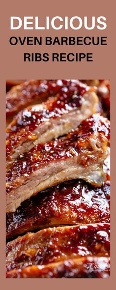 Delicious Oven Barbecue Ribs Recipe—the perfect simple way to make tasty ribs in your oven! The whole family will love these! Toss these ribs in your oven and you're goof to go. Pair with a veggie to make it meal! #ovenbaked #ribs #healthydinner #dinnerrecipes Cafe Delites, Barbecue Ribs, Tasty, Yummy Food, Easy Food To Make, Oven Baked, Love Food, The Best, Dinner Recipes