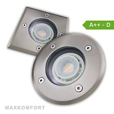 Bodeneinbaustrahler LED Spot GU10 Außenleuchte Bodenstrahler Einbaustrahler V2
