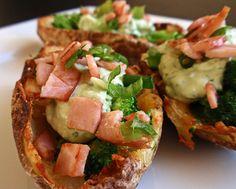 Handle the Heat » Broccoli and Cheddar Potato Skins with Avocado ...