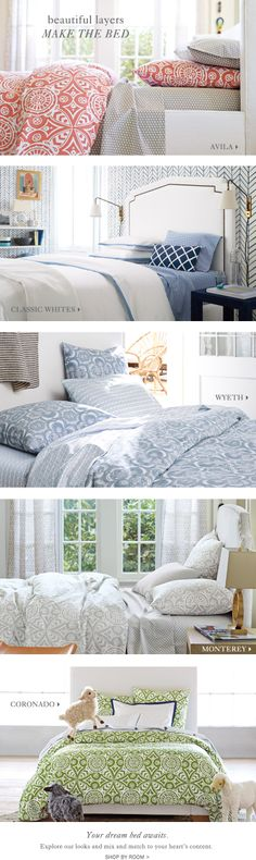 FEATURES Classic Whites Make Your Bed Tool  SHOP BY CATEGORY Duvet Covers Sheets Quilts Shams Blankets & Throws Throw Pillows Bed ...