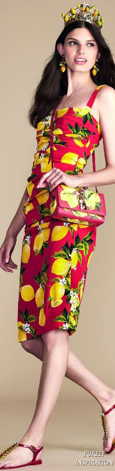 Dolce Gabbana Summer 2016 Orange County Collection Women's Fashion RTW | Purely…