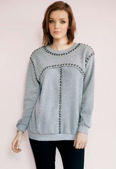 Grey jumper with studs