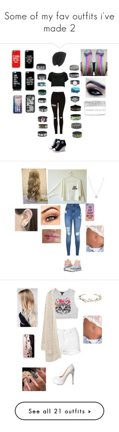 """""""Some of my fav outfits i've made 2"""" by xxbeautysparkxx ❤ liked on Polyvore featuring Laundromat, Casetify, WithChic, Topshop, Lipsy, Converse, Finn, Otis Jaxon, Forever 21 and Violeta by Mango"""