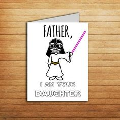Star Wars Card Christmas Card for Dad gift from Daughter Birthday card Darth Vader Princess L. Star Wars Card Christmas Card for Dad gift from Daughter Birthday card Darth Vader Princess Leia Printable Funny Father . Diy Gifts For Dad, Diy Father's Day Gifts, Father's Day Diy, Daddy Gifts, Diy Dad Gifts From Daughter, Craft Gifts, Daughter Birthday Cards, Birthday Presents For Dad, Christmas Presents For Dad