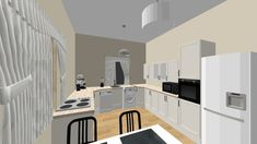 Kenyeres Petra - Kitchen - by Slimline Dishwasher, Drum Pendant, Petra, Wall Sticker, Kitchen Design, Chair, Wood, Interior, Home Decor
