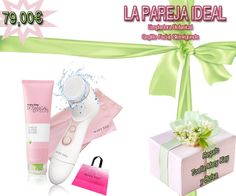 LA PAREJA IDEAL: Gel limpiador Botanical Effects y Cepillo facial Skinvigorate y de regalo una bolsa y una toalla Mary Kay